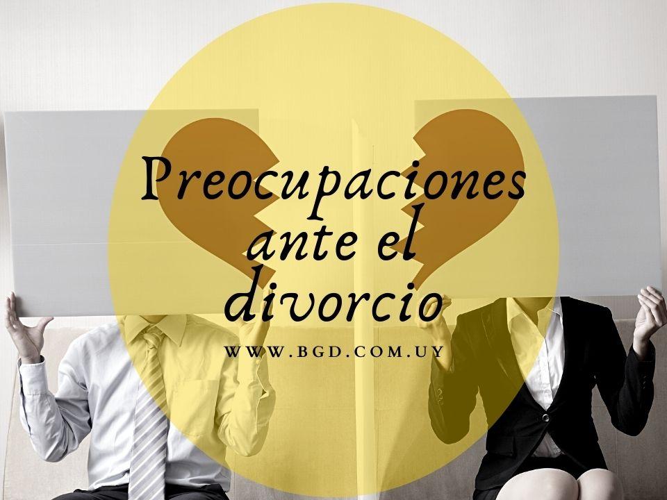 Preocupaciones ante el divorcio