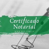 Certificado notarial