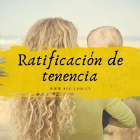 Ratificación de tenencia