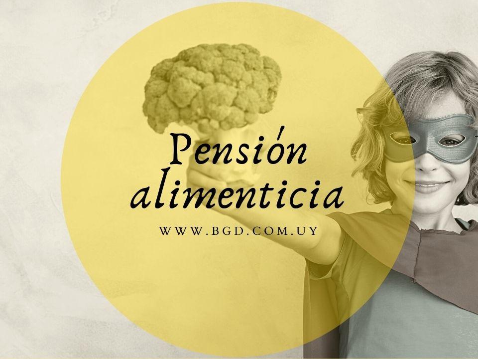 Pensión alimenticia en Uruguay