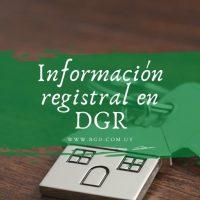 Información registral en DGR