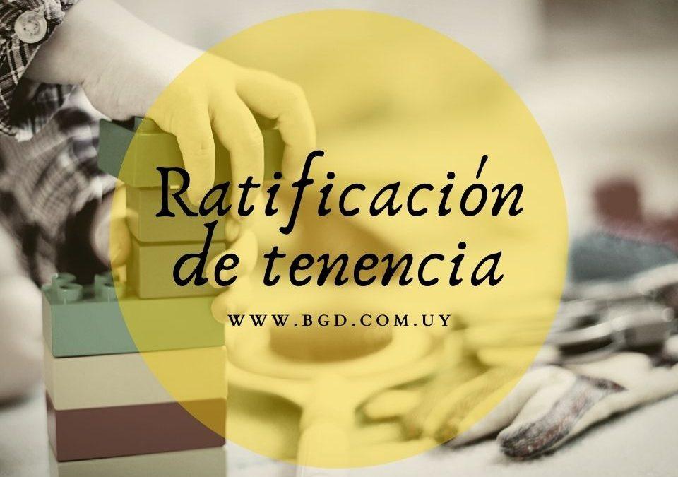 Ratificación de tenencia de menores
